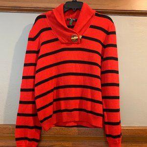 Lauren Ralph Lauren Bold Stripe Sweater sz. XL